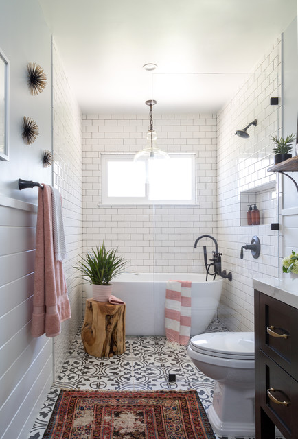 West Covina Guest Bathroom Farmhouse Bathroom