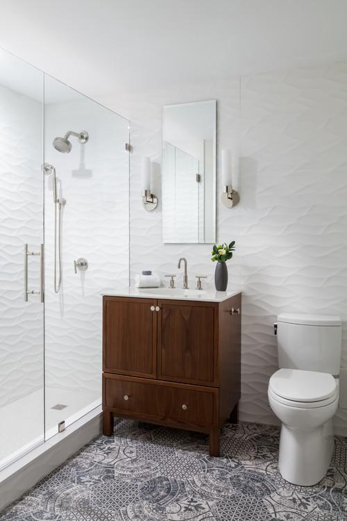 3D Tiling in bathroom