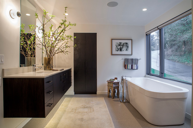 West Hills Remodel Contemporary Bathroom Portland By Scott Edwards Architecture