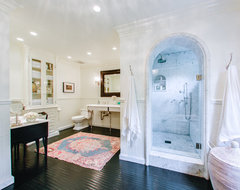 West Hollywood in Black and White traditional-bathroom