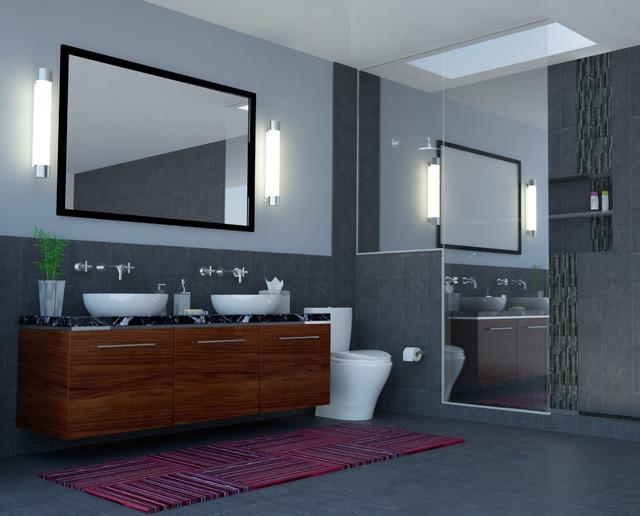 West Hubbard Residence modern-bathroom