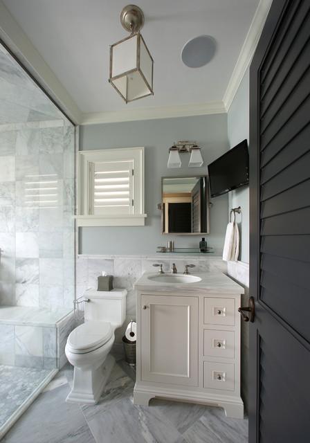 West Indies Residence tropical-bathroom