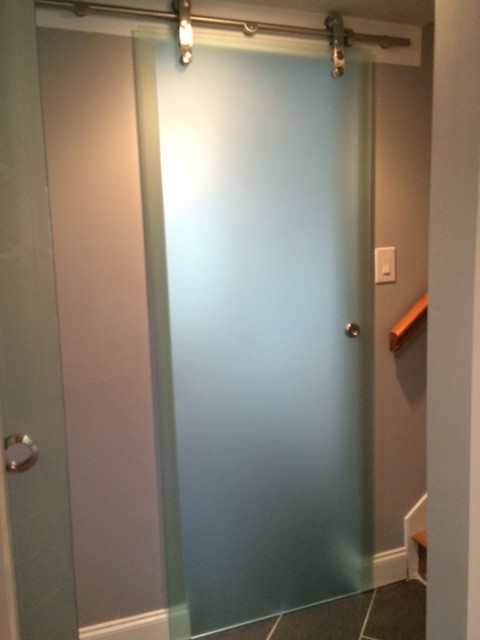 West Knoxville Contemporary Sliding Barn Doors