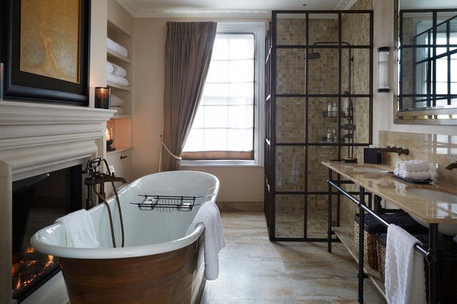 West london townhouse transitional bathroom london for Townhouse bathroom ideas