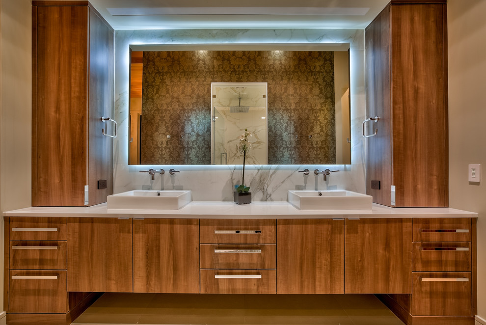 West Omaha lakefront home - Contemporary - Bathroom ...