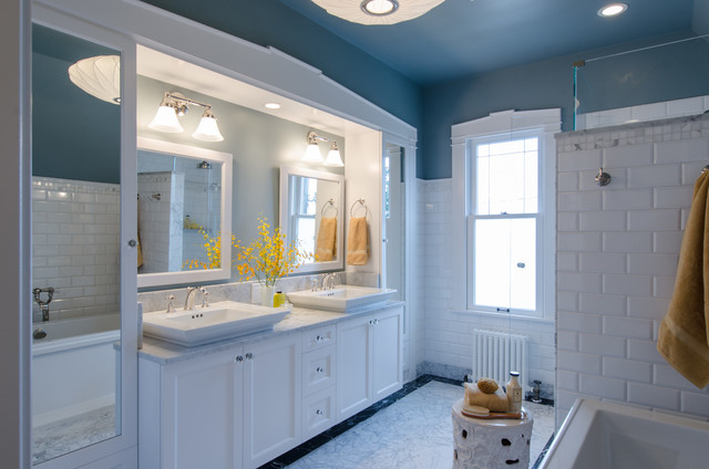 Nothing But Blue Skies Master Bath Before And After: West Seattle 1908 Bathroom