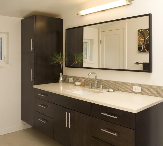 Modern Kitchen Cabinets Seattle: West Seattle Contemporary Master Bathroom