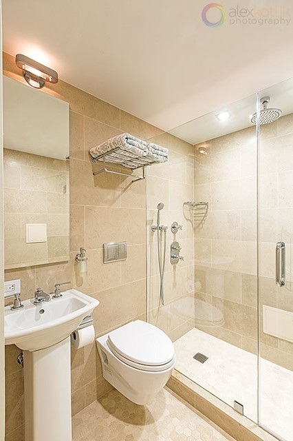 West side townhouse modern bathroom new york by for Townhouse bathroom designs