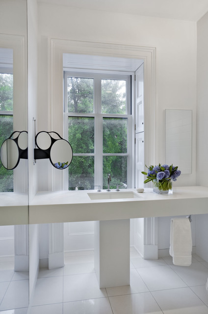 West village townhouse contemporary bathroom new for Townhouse bathroom designs