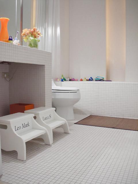 West Village Townhouse modern-bathroom