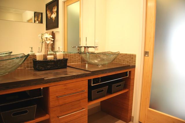 Westchester Lagoon (Anchorage) Master Bath asian-bathroom
