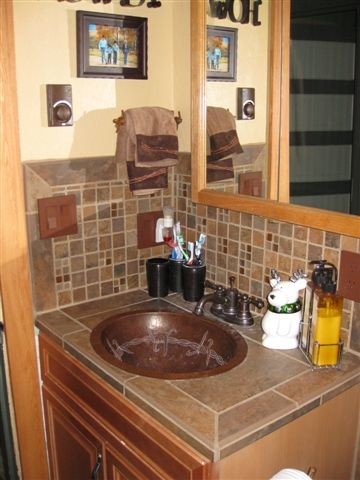 Western style bathroom montana traditional bathroom for Western style bathrooms