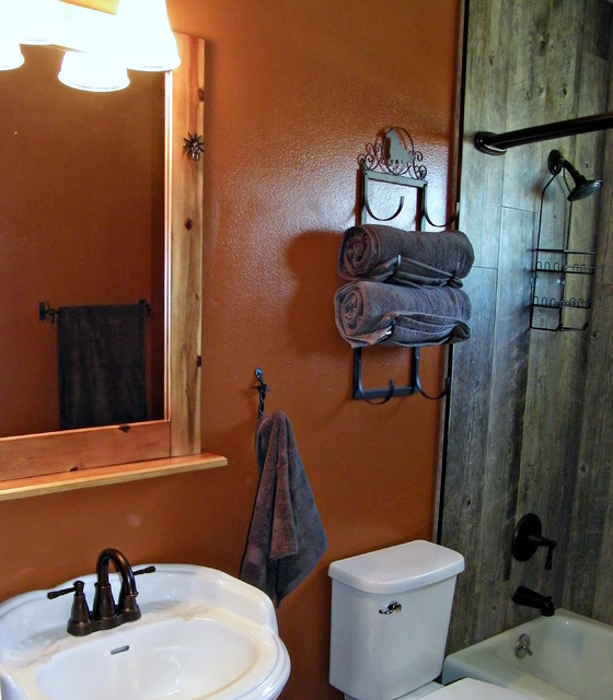 western themed hall bathroom rustic bathroom sacramento by guy
