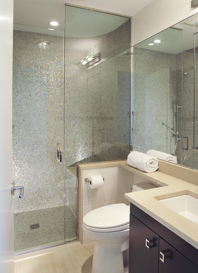 Trendy bathroom photo in New York