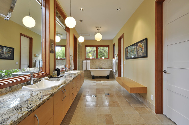 Westlake Residence contemporary bathroom
