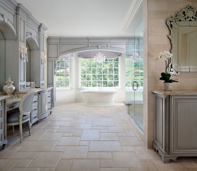 Westlake village french provincial traditional for French style bathroom design
