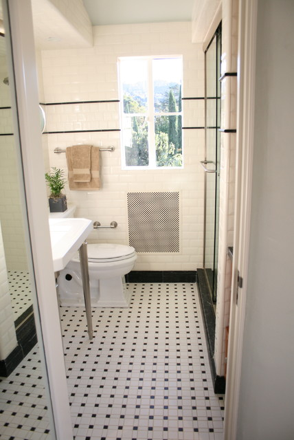 Inspiration for a transitional bathroom remodel in San Francisco