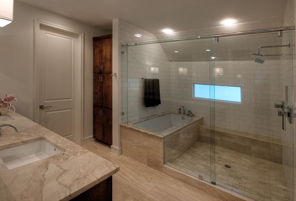 Bathroom - modern bathroom idea in Austin