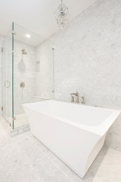 Westover Residence transitional-bathroom