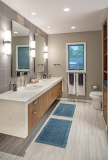 Westside Renovation Contemporary Bathroom Omaha By The Modern Hive