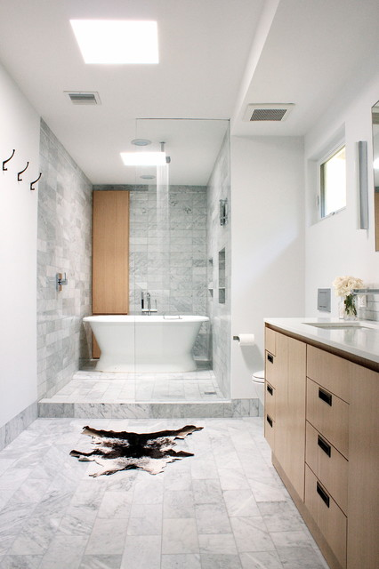 wet area shower tub contemporary bathroom los