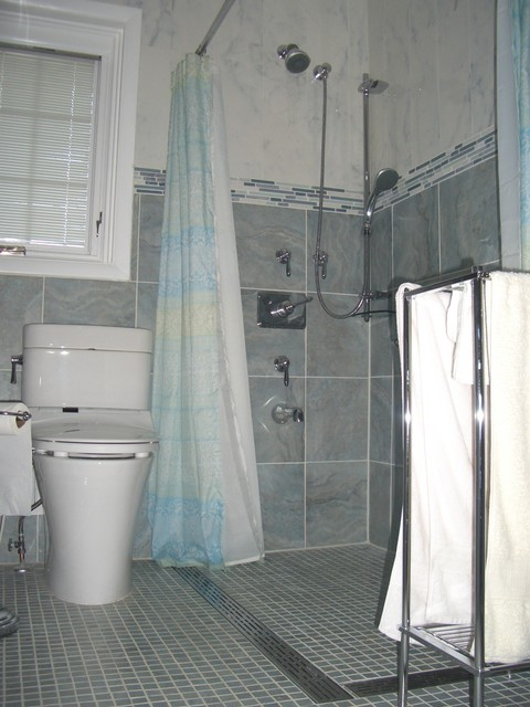 Wheelchair Accessible Bathroom Remodel Contemporary Bathroom - Bathroom remodel for wheelchair access