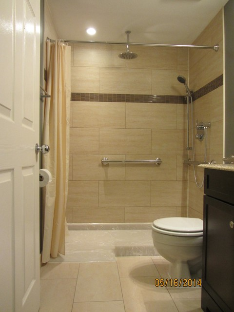 Wheelchair accessible shower for Handicap baths