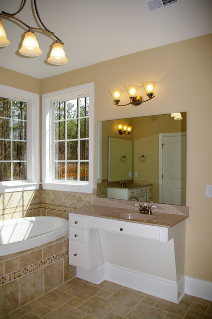 Wheelchair accessible vanity traditional bathroom for Wheelchair accessible housing