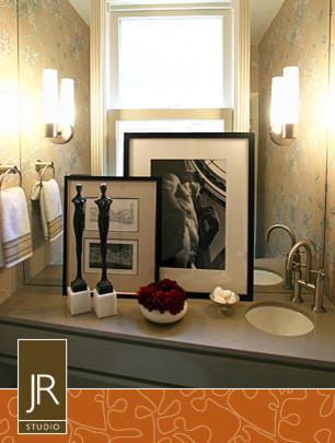 Where is the Mirror contemporary-bathroom