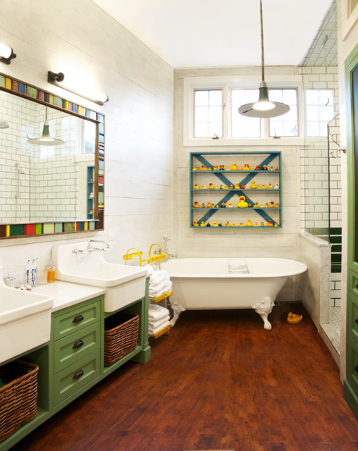 Eclectic Bathroom by Scott Lyon & Company