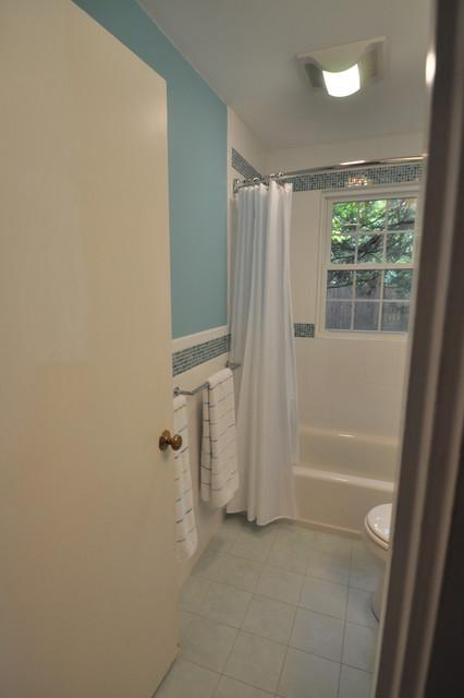 Whimsical Blue Bath contemporary-bathroom
