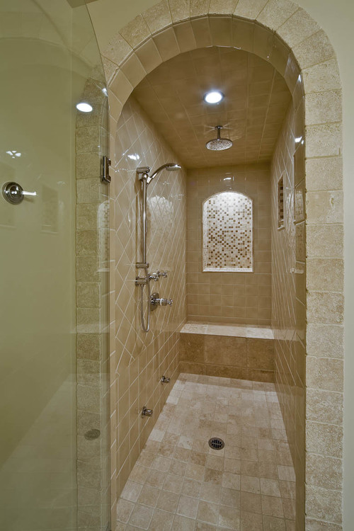 Seeking Pictures Of Long Narrow Showers With 1 Glass Wall