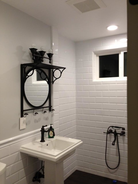 bathrooms with white subway tile white 4x10 subway tile bathroom 22607