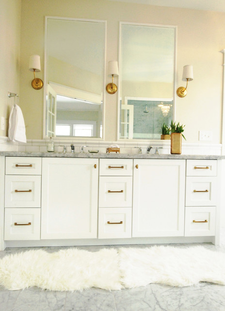White And Gold Master Bath Traditional Bathroom Salt