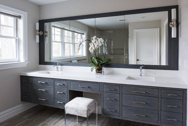 Beautiful Custom Design Build Bath Vanity Cherry Wood  Westchester NY