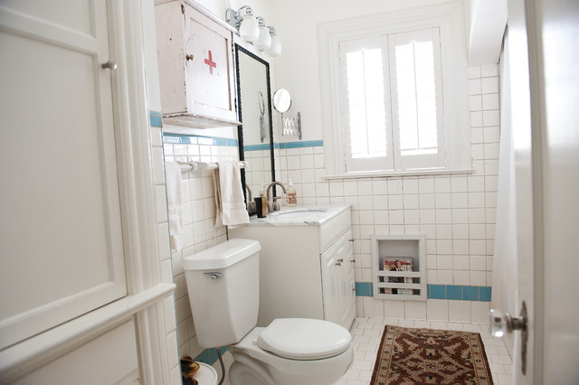 White Bathroom Eclectic Bathroom Dallas By Emily Mccall