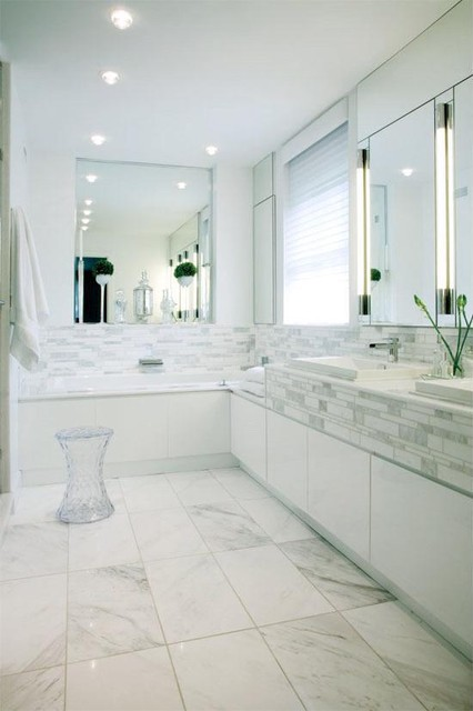 White bathroom Bathroom design shower over bath