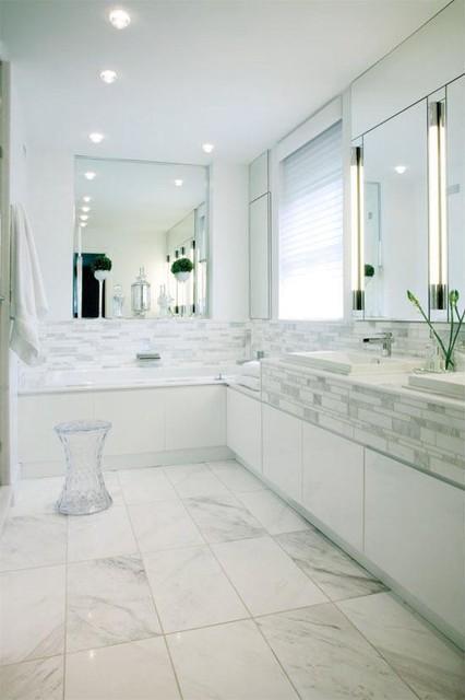 White Bathroom Contemporary Bathroom Other