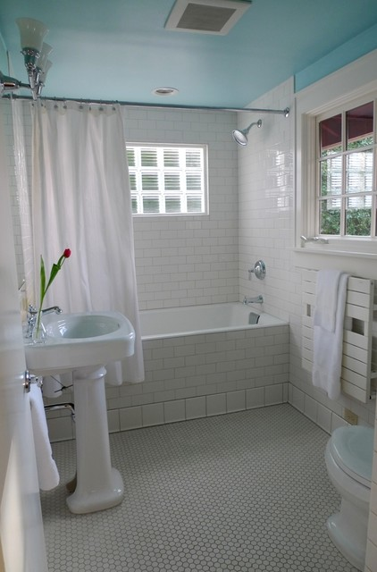 white baths with color eclectic-bathroom