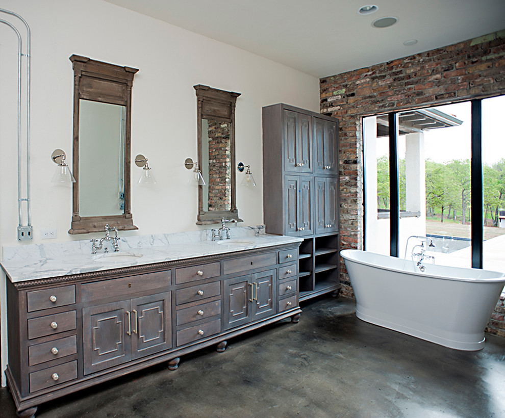 White Caballero - Contemporary - Bathroom - Oklahoma City ...