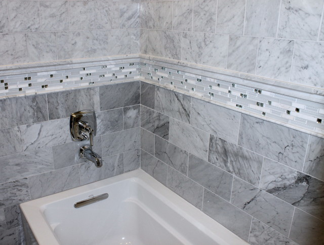 White Carrara Bathroom contemporary-bathroom