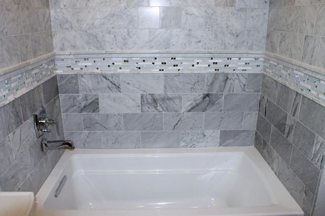White Carrara Bathroom Contemporary Bathroom