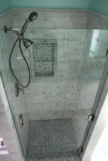 White carrara marble traditional bathroom atlanta by change your bathroom inc - Change your old bathroom to traditional bathrooms ...