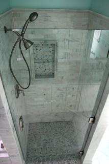 White Carrara Marble Traditional Bathroom Atlanta By Change Your Bathroom Inc