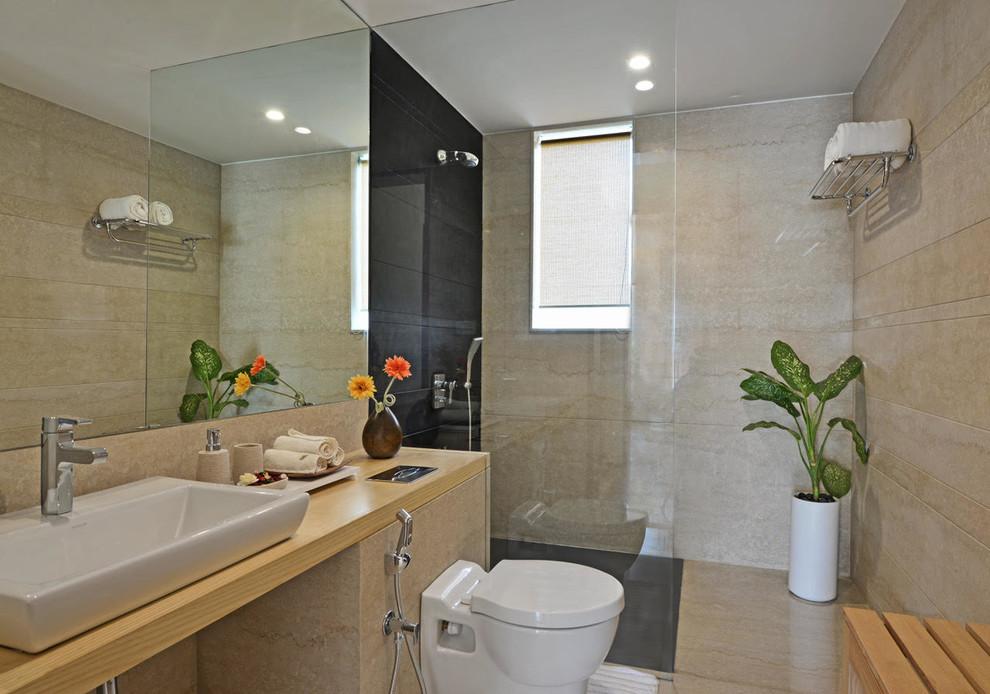 White City Modern Bathroom Mumbai By Krishnan Parvez Architects