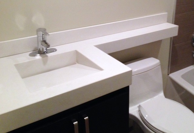 ramp sinks for bathrooms white concrete ramp sink with slot drain amp bathroom tile 20083
