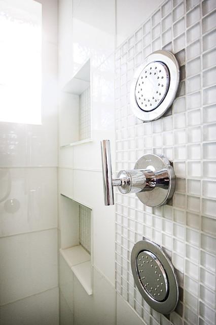 White Hot Bathroom Renovation modern-bathroom