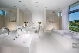 White House Modern Bathroom Miami Houzz