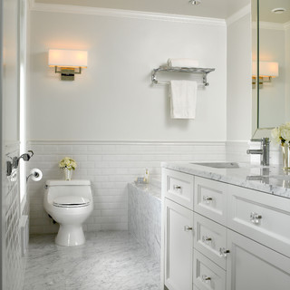 Delicieux White Marble Bathroom   Traditional   Bathroom   Vancouver   By The Sky Is  The Limit Design