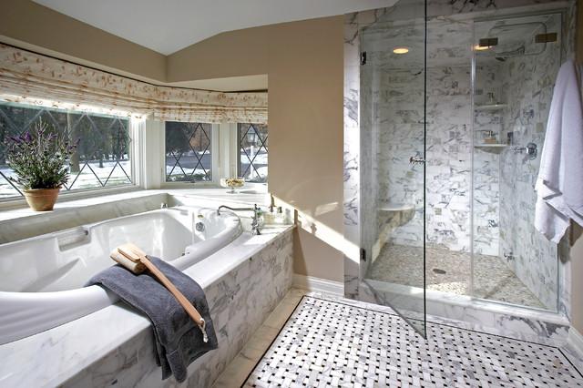 White Marble Spa Bathroom Modern